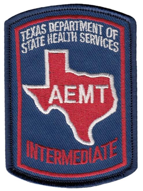 "TEXAS AEMT Shoulder Patch, Full Color, 2-1/8x3"""