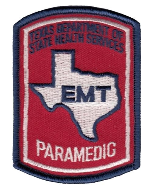 """TEXAS PARAMEDIC Cap Patch, 2-1/8x3"""""""