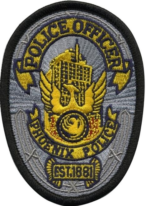 """ARIZONA PHOENIX POLICE Patch, 2-1/2x3-1/2"""""""