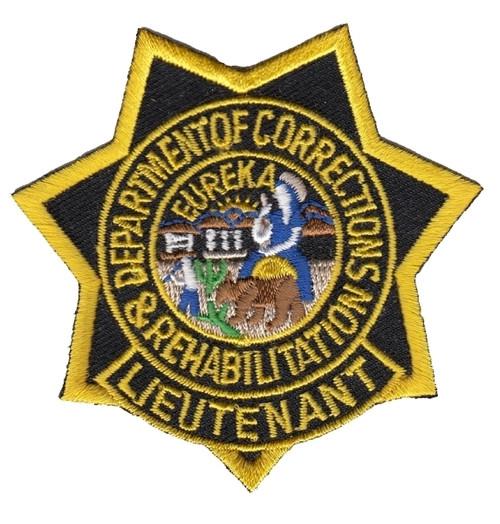 "CDCR LT Star Badge Patch, Full Color, 3x3"""