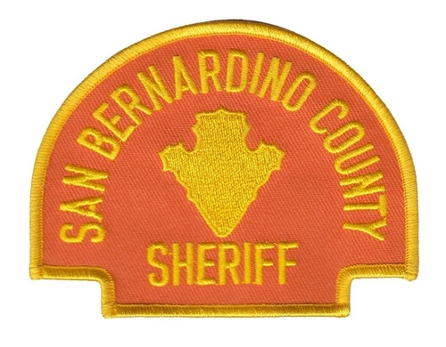 "SAN BERNARDINO COUNTY SHERIFF Shoulder Patch, Orange, 4x3"""