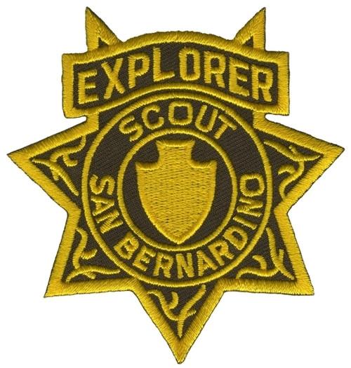"CA SAN BERNARDINO SCOUT EXPLORER Star Badge Patch, 3x3-3/8"""