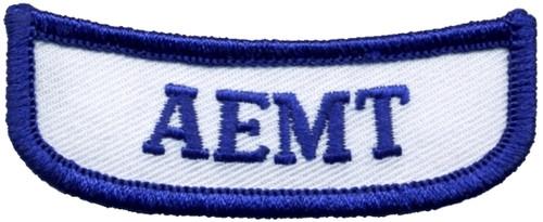 "GA AEMT Rocker Patch, 7/8x2-11/16"""
