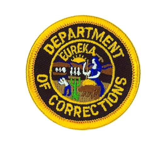 """DEPT. OF CORRECTIONS Patch, 1-7/8"""" Circle"""
