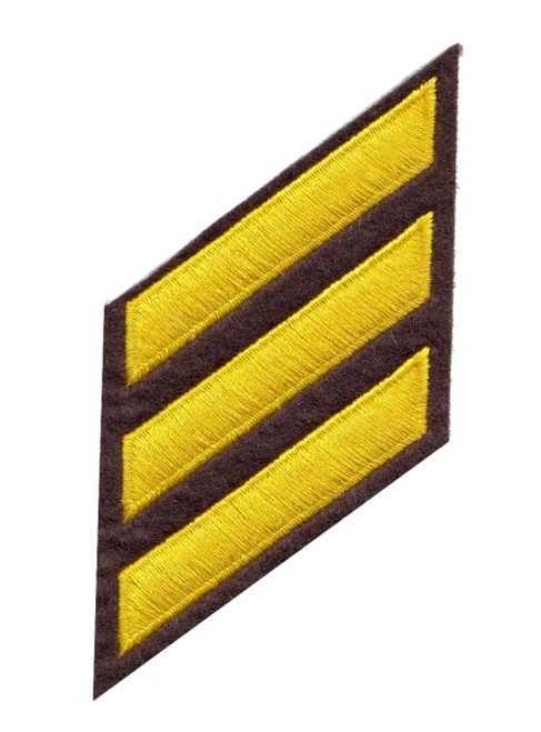 """HASHMARKS - Continuous, Felt, Med Gold/Brown, 2x3/8"""" Stripe"""