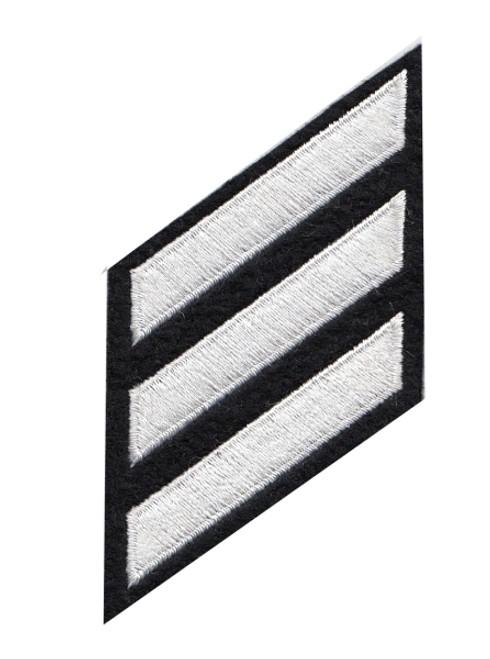 "HASHMARKS - Continuous, Felt, White/Navy, 2x3/8"" Stripe"