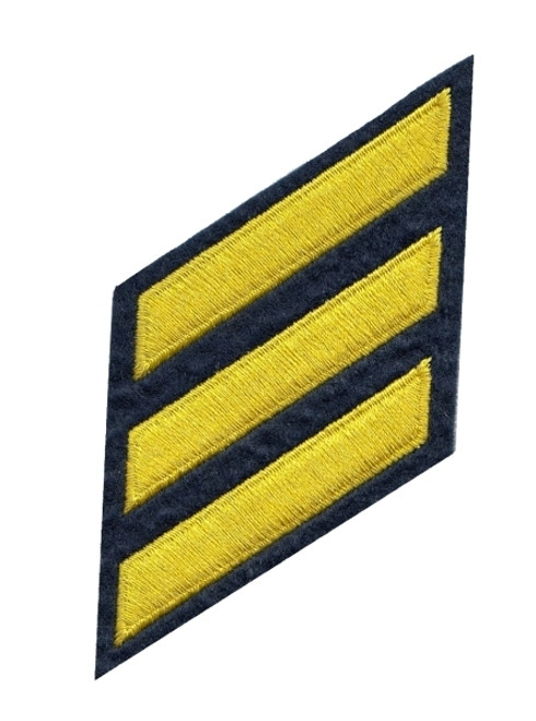 """HASHMARKS - Continuous, Felt, Med Gold/Navy, 2x3/8"""" Stripe"""