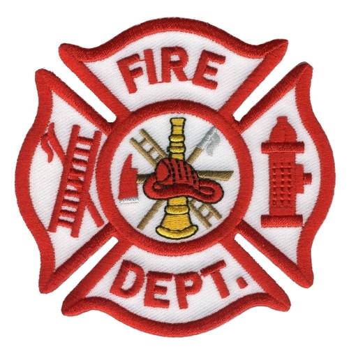 """FIRE DEPT. Shoulder Patch, 3-1/2x3-1/2"""""""