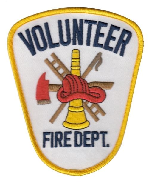 "VOLUNTEER FIRE DEPT. Shoulder Patch, 3-5/8x4-3/8"""