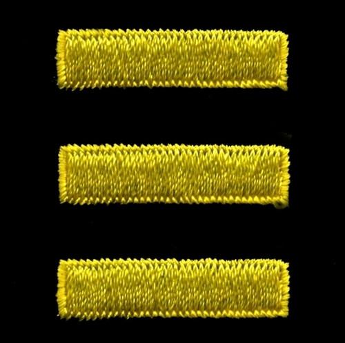 """Service Bars - Continuous, Felt, Medium Gold/Black, 1x1/4"""" Bar"""