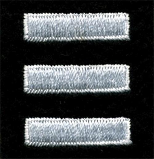 """Service Bars - Continuous, Felt, White/Black, 1x1/4"""" Bar"""