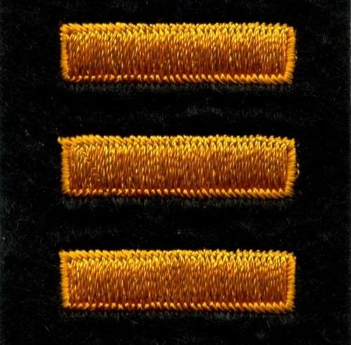 """Service Bars - Continuous, Felt, Summer Gold/Black, 1x1/4"""" Bar"""