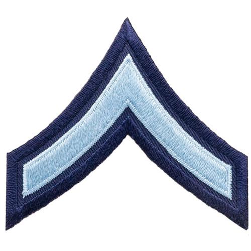 "PFC Chevrons, Light Blue/Navy Blue, 3"" Wide"
