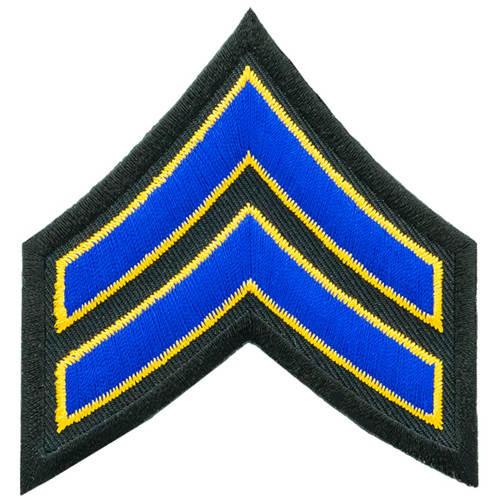 "Corporal Chevron, Royal-Summer Gold/Black, 3"" Wide"