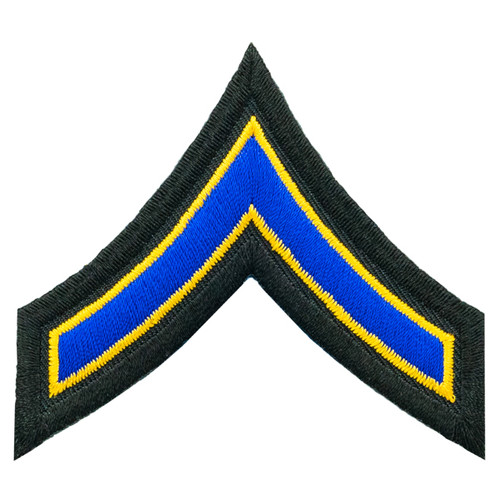 """Private First Class, Royal-Summer Gold/Black, 3"""" Wide"""