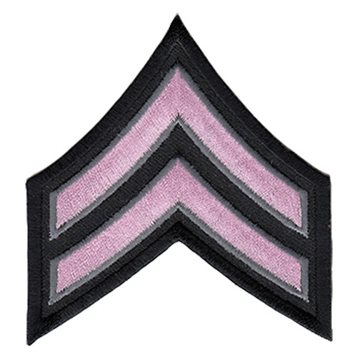 "Pink Line - CPL Chevrons, Light Pink/Grey on black, 3"" Wide"
