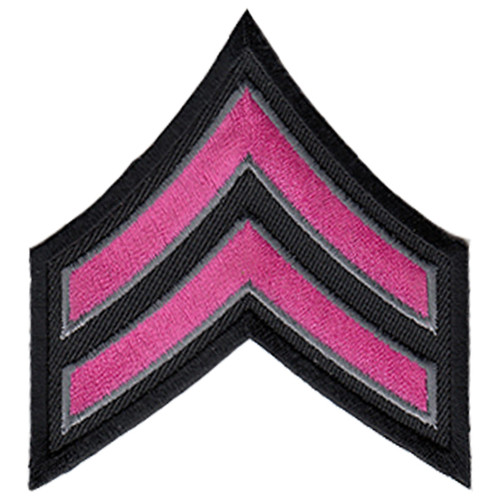 "Pink Line - CPL Chevrons, Dark Pink/Grey on black, 3"" Wide"