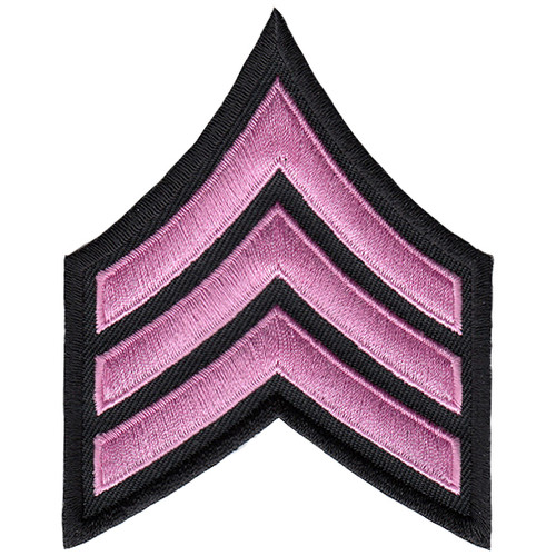 "Pink Line - SGT Chevrons, Pink/Black, 3"" Wide"