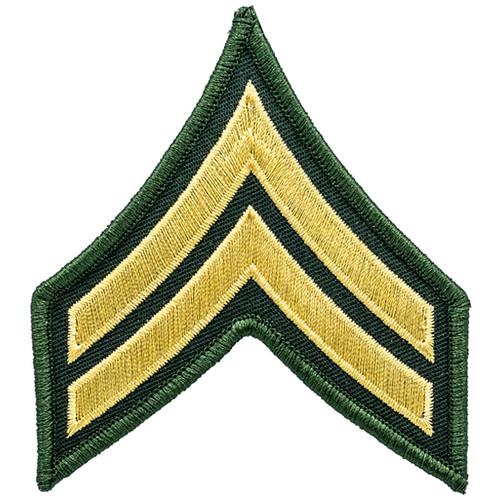 """CPL Chevrons, (LA Co Sheriff), Marine/O.D., 3"""" Wide"""