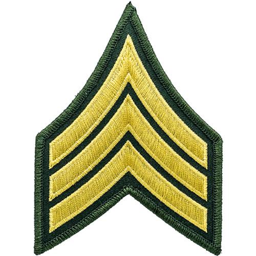 "SGT Chevrons, (LA Co Sheriff), Marine/O.D., 3"" Wide"