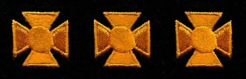 "Maltese Crosses - Continuous, Felt, Dark Gold/Black, 3/4"" Cross"