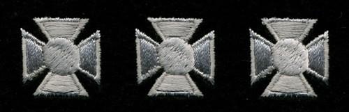 "Maltese Crosses - Continuous, Felt, Silver/Black, 3/4"" Cross"