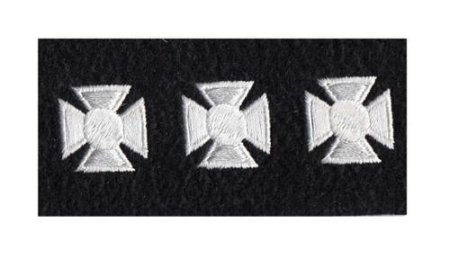"Maltese Crosses - Continuous, Felt, White/Black, 3/4"" Cross"