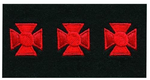 "Maltese Crosses - Continuous, Felt, Red/Black, 3/4"" Cross"