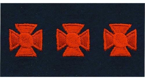"Maltese Crosses - Continuous, Felt, Red/Dark Navy, 3/4"" Cross"