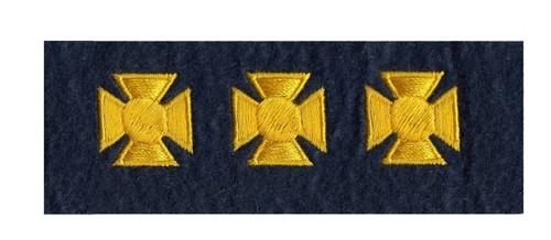 "Maltese Crosses - Continuous, Felt, Medium Gold/Dk Navy,3/4"" Cross"