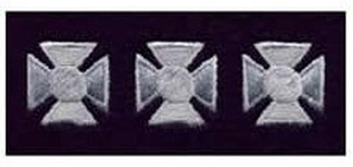 "Maltese Crosses - Continuous, Felt, Silver/Dark Navy, 3/4"" Cross"