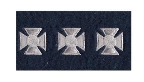 "Maltese Crosses - Continuous, Felt, White/Dark Navy, 3/4"" Cross"