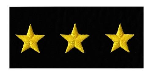 """Stars - Continuous, Felt, Medium Gold/Black, 5/8"""" Star"""