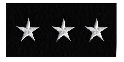 "Stars - Continuous, Felt, White/Black, 5/8"" Star"