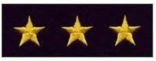 "Stars - Continuous, Felt, Medium Gold/Dk Navy, 5/8"" Star"