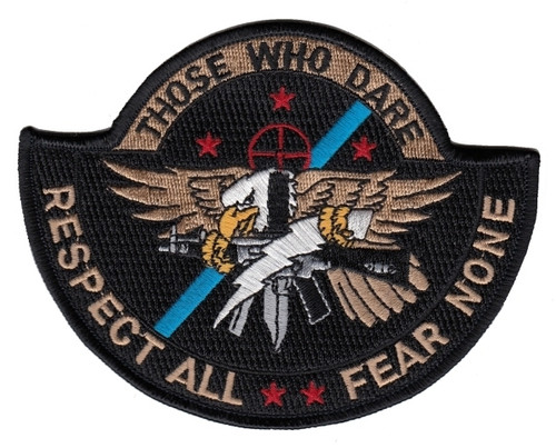 """THOSE WHO DARE Shoulder Patch, Full Color, 5x4"""""""