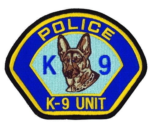 "POLICE K-9 UNIT Shoulder Patch, 4-1/2x3-1/2"""