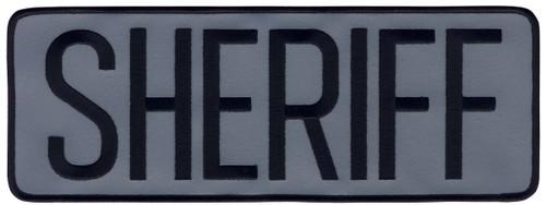 """SHERIFF Back Patch, Reflective, Black/Reflective Grey, 11x4"""""""