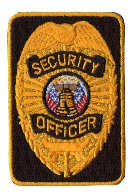 """SECURITY OFFICER Patch, Gold/Black, 2x3"""""""