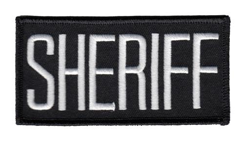 "SHERIFF Chest Patch, White./Black, 4x2"""
