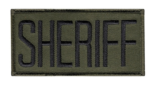 """SHERIFF Chest Patch, Black/O.D., 4x2"""""""