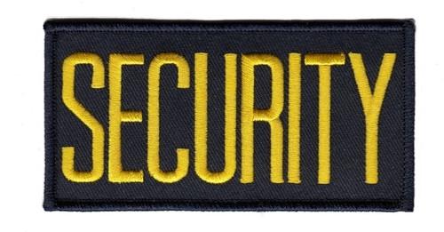 "SECURITY Chest Patch, Medium Gold/Midnight, 4x2"""