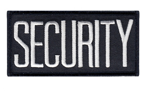"""SECURITY Chest Patch, White/Midnight Navy, 4x2"""""""