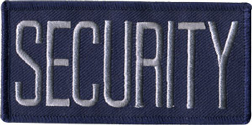 """SECURITY Chest Patch, Grey/Navy, 4x2"""""""
