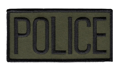 """POLICE Chest Patch, Black/O.D., 4x2"""""""