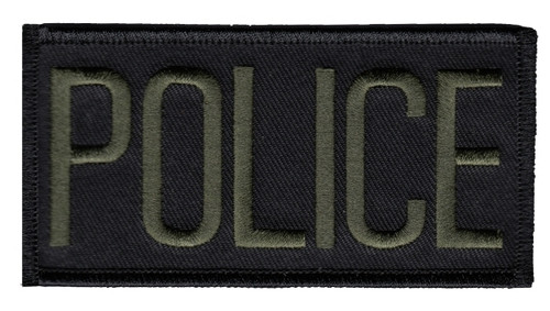 """POLICE Chest Patch, O.D./Black, 4x2"""""""