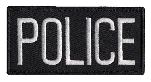 """POLICE Chest Patch, White/Black, 4x2"""""""