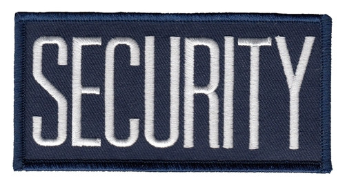 """SECURITY Chest Patch, White/Navy, 4x2"""""""