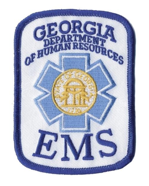 "GA EMS Rocker Patch, 2-1/2x3-1/2"""