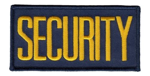 "SECURITY Chest Patch, Medium Gold/Navy, 4x2"""